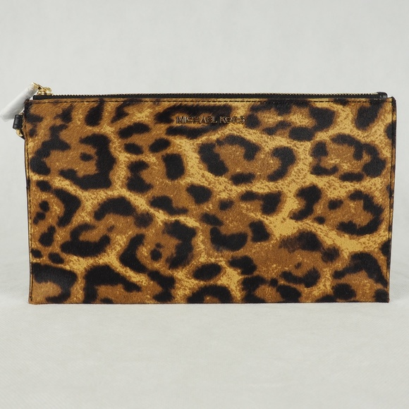 ff4e89c91f8d Michael Kors Bags | Large Wristlet Leopard Print Calfhair | Poshmark